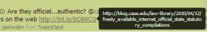 Long URL Feature in Chromed Bird
