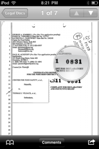 Westlaw News and Insight Case Document PDF with Magnifying Glass