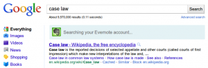 Evernote's Simultaneous Search on Google