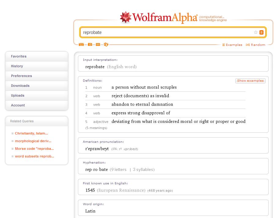 wolfram-alpha-dictionary