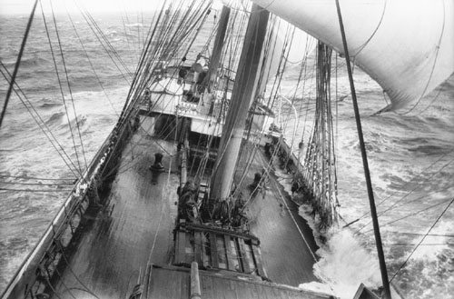 The Grace Harwar Sailing in a Storm - by Alan Villiers, 1929 (WikiMedia Commons)
