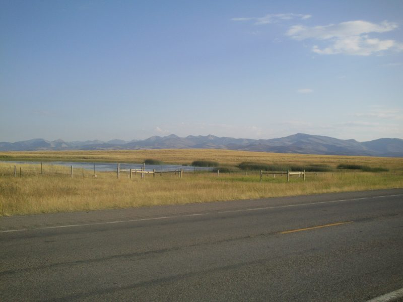 Highway 2 outside Browning on the east side of the Rocky Mountains