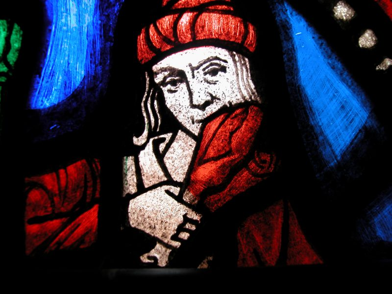 Gluttony stained glass window by aesdanae at Morguefile.com