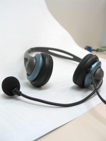 Headphones on desk by kahle at Morguefile.com