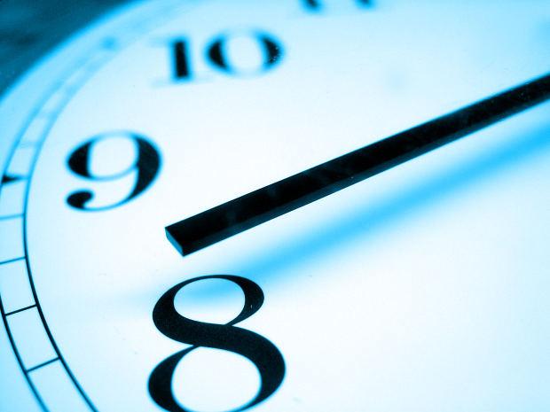 Blue clock by ppdigital at Morguefile.com
