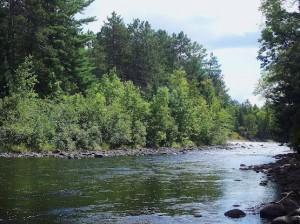 Rapids along the Amable du Fond River