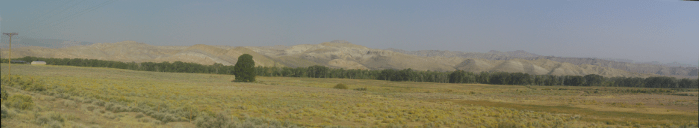 Foothills east of the Togwotee pass