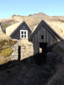 Outdoor houses at Skogar museum