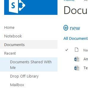 SharePoint 2013 in the cloud has Shared with Me