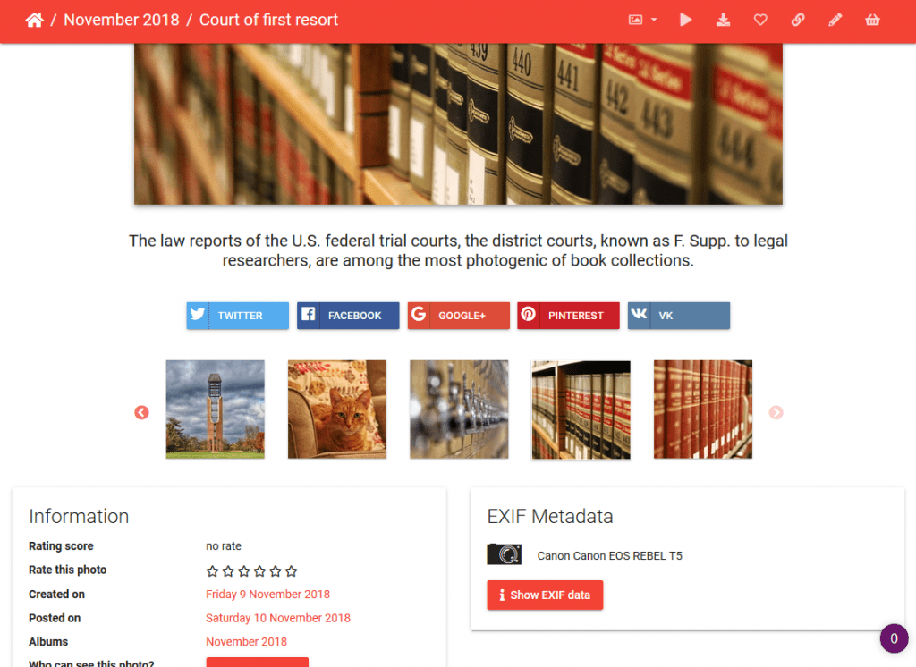 An Open Source Alternative to Flickr for Photo Sharing Archives